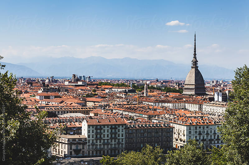 The Mole Antonelliana over Turin Cityscape, Italy by Giorgio Magini for Stocksy United