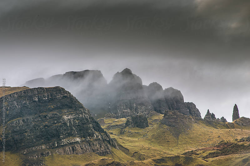 Wild Scottish Mountains by Maximilian Guy McNair MacEwan for Stocksy United