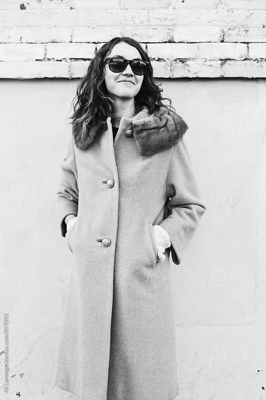 Woman in Fur by Ali Lanenga for Stocksy United