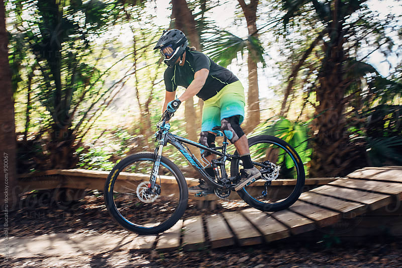 Mountain biker on a trail by Gabriel (Gabi) Bucataru for Stocksy United
