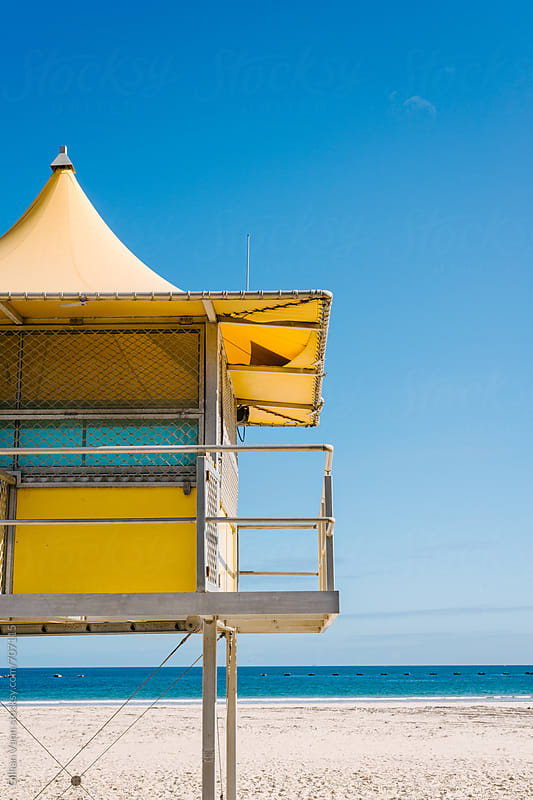 surf life saver hut on the beach, Australia by Gillian Vann for Stocksy United