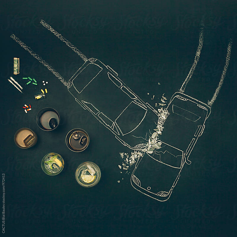 Alcohol, drugs and accidents by CACTUS Blai Baules for Stocksy United