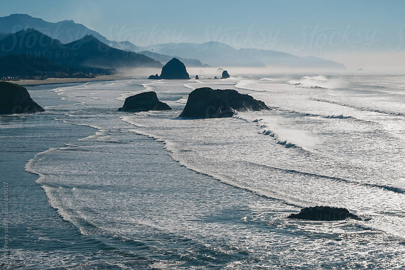 Profile of Scenic Canon Beach, Oregon by Shelly Perry for Stocksy United