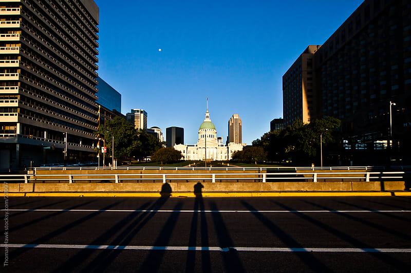 Downtown St. Louis and Freeway by Thomas Hawk for Stocksy United