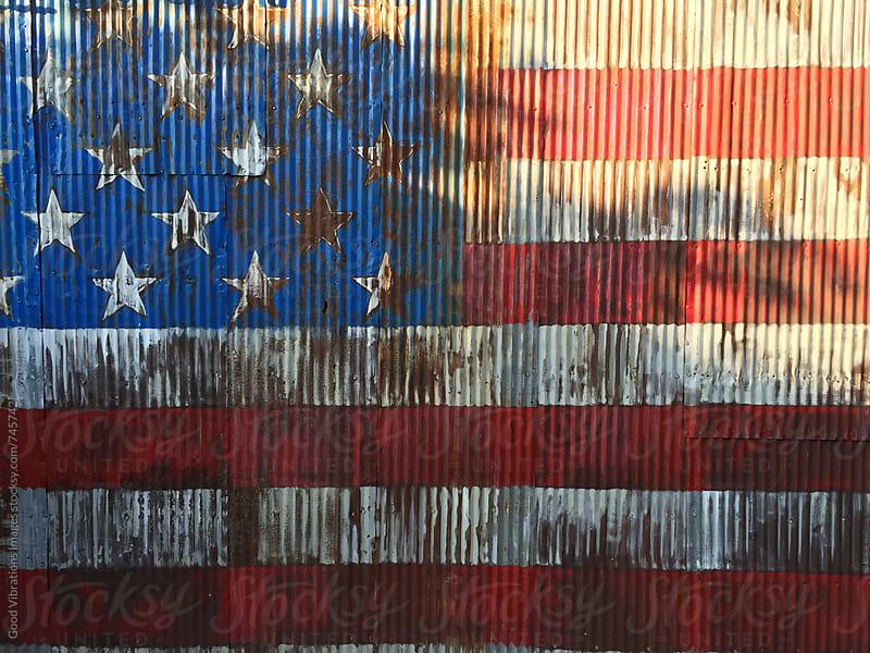 Rusty American Flag by Good Vibrations Images for Stocksy United