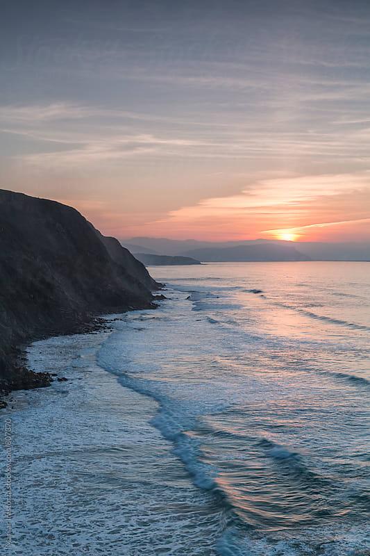 Twilight on the coastline of northern Spain by Marilar Irastorza for Stocksy United
