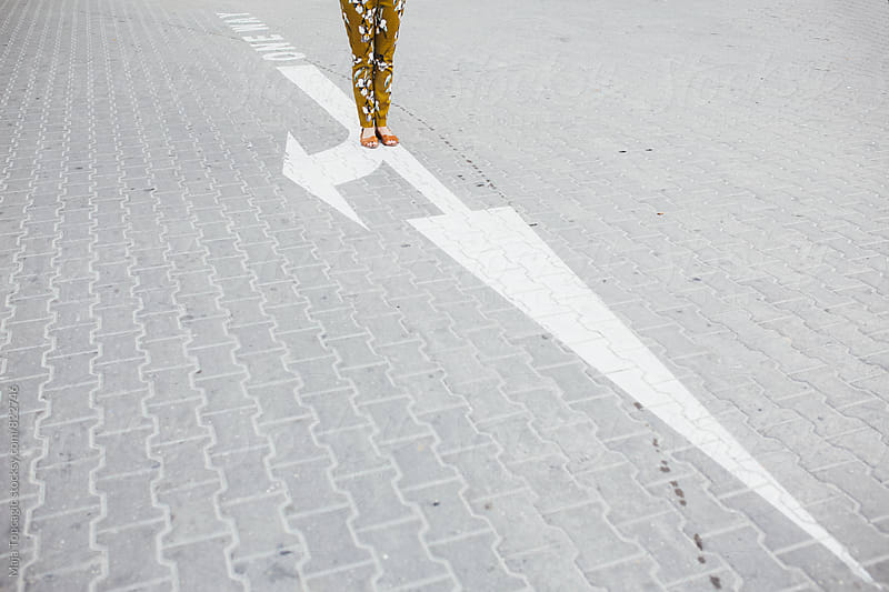 Female legs on the street by Maja Topcagic for Stocksy United