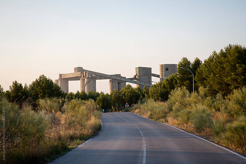 Cement factory by Luis Cerdeira for Stocksy United
