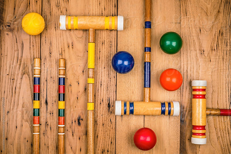 Play a Game of Croquet by suzanne clements for Stocksy United