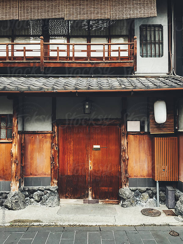 Japanese Architecture - Traditional Kyoto House Facade by VISUALSPECTRUM for Stocksy United