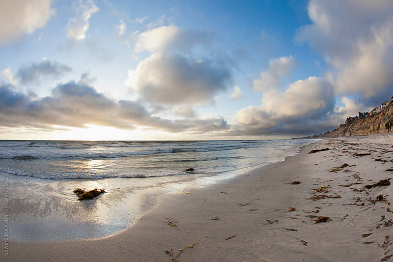 Solana Beach, California, USA at sunset by Edward Bock for Stocksy United