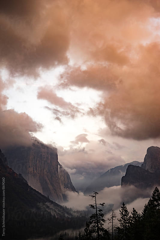 Yosemite Through the Clouds by Terry Schmidbauer for Stocksy United