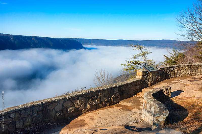 Tennessee River Gorge filled with fog by David Smart for Stocksy United