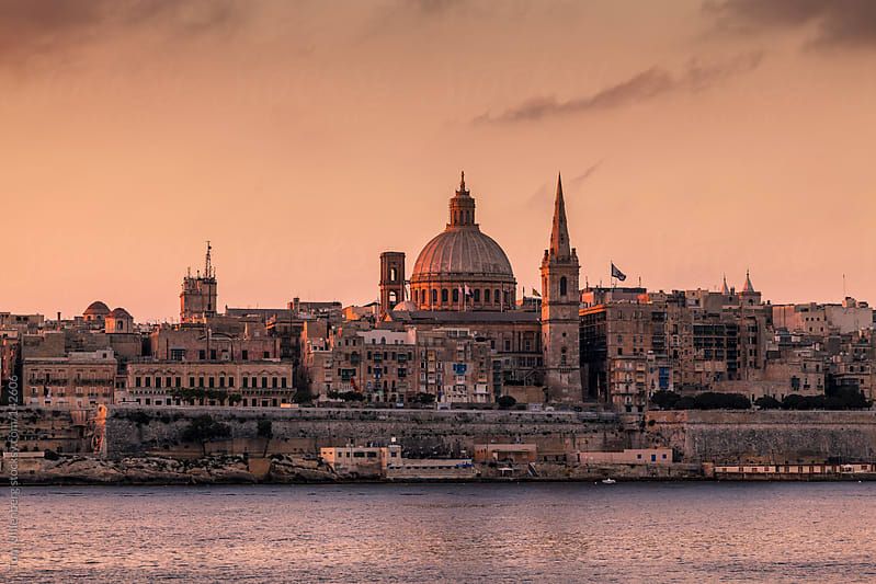 Valletta - the Capital of Malta at Dawn by Tom Uhlenberg for Stocksy United