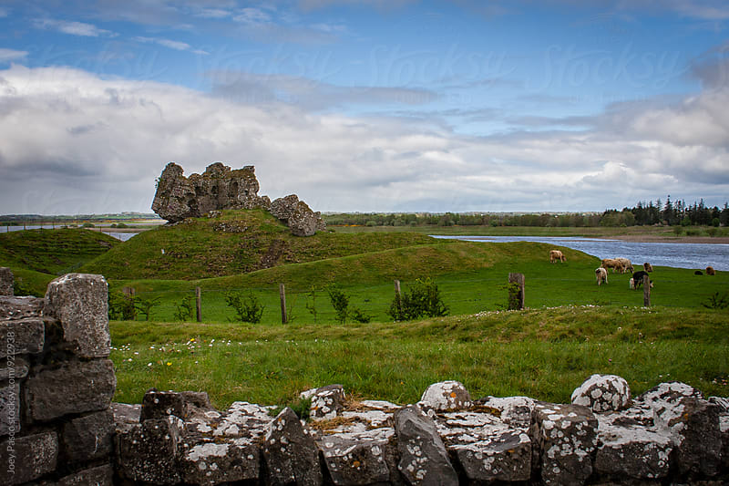 Ancient ruins at Clonmacnoise Monastery by Joey Pasco for Stocksy United