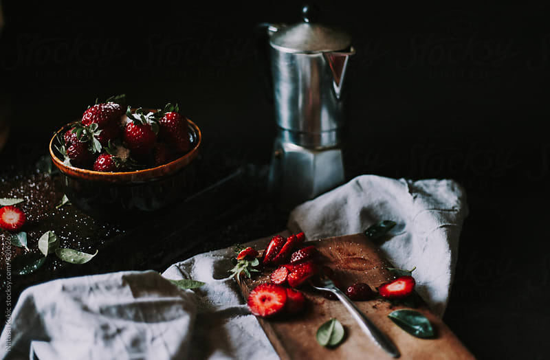 Strawberries still life by Natasa Kukic for Stocksy United