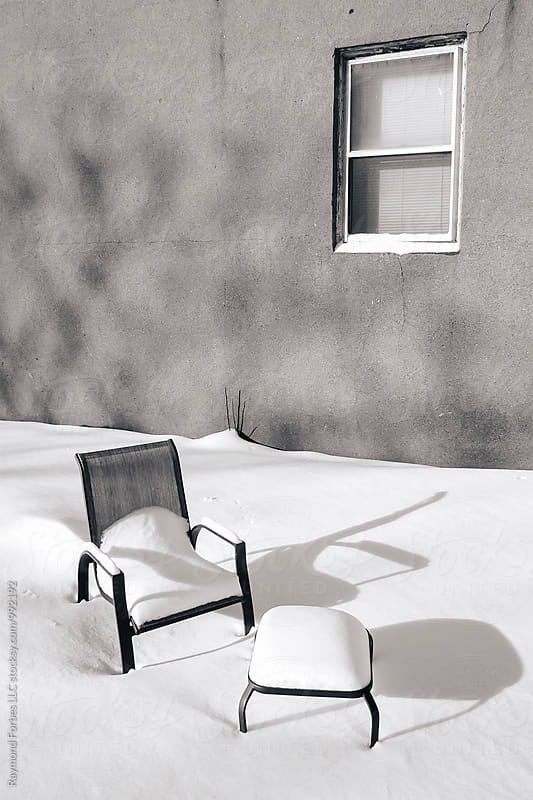 Lawn Chair in Winter by Raymond Forbes LLC for Stocksy United