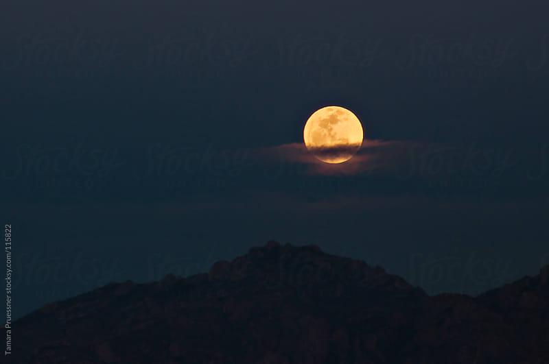 Full Moon Behind Clouds by Tamara Pruessner for Stocksy United