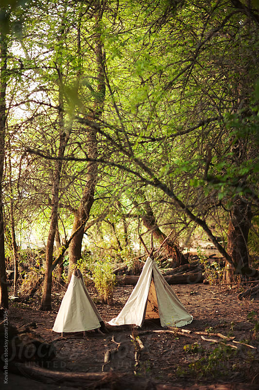 Forest Teepees by Kevin Russ for Stocksy United