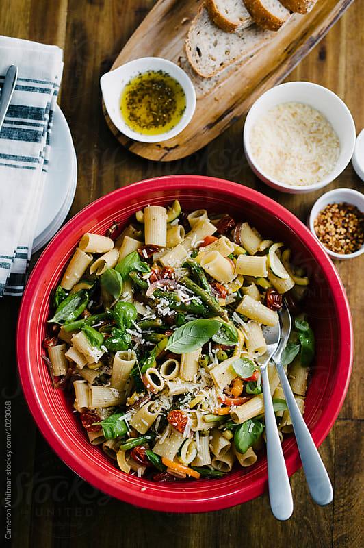 Summer Pasta Primavera  by Cameron Whitman for Stocksy United