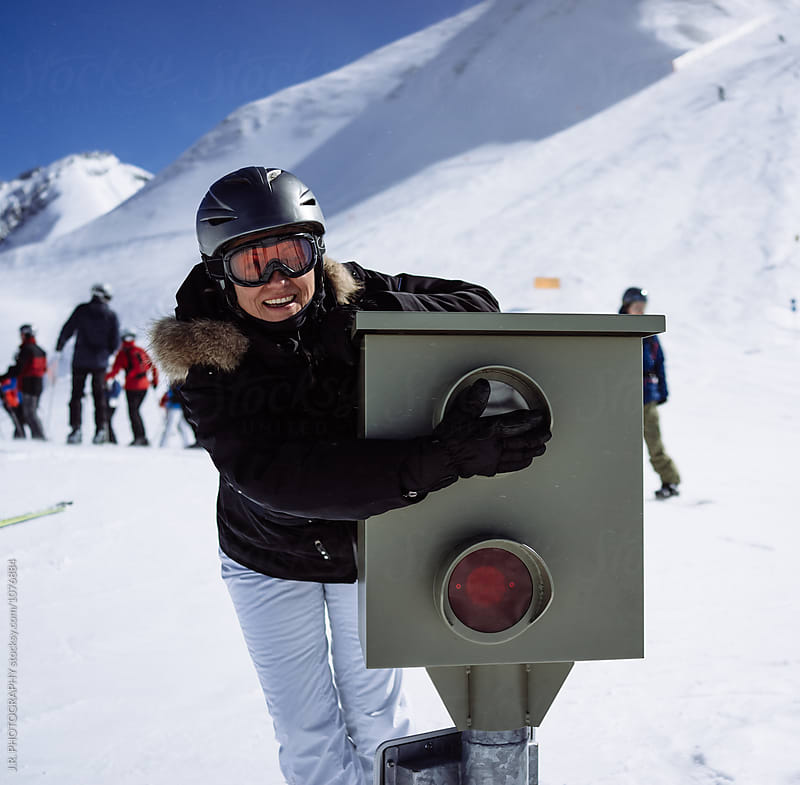 Speed camera at ski slope by J.R. PHOTOGRAPHY for Stocksy United