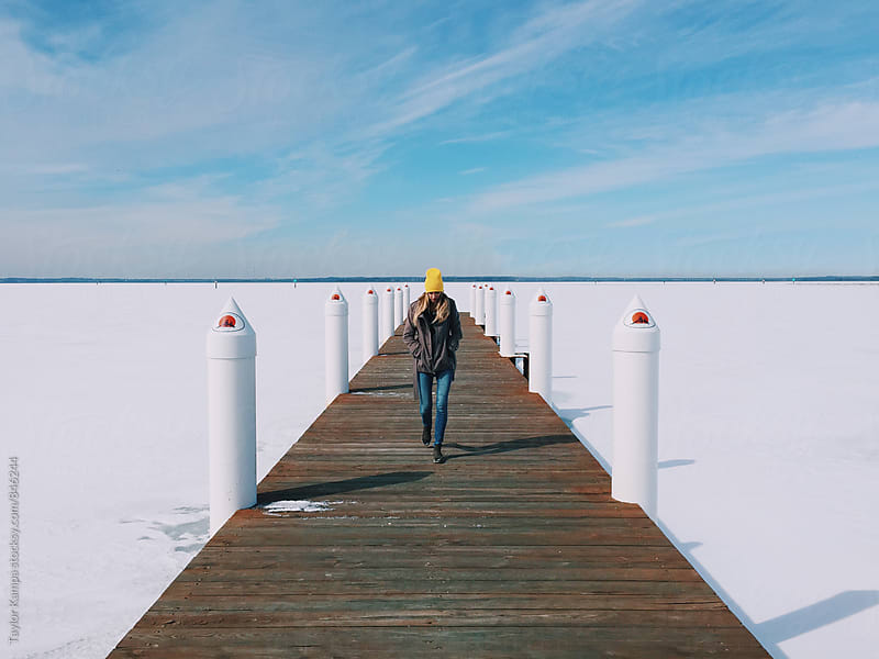 Frozen Dock by Taylor Kampa for Stocksy United