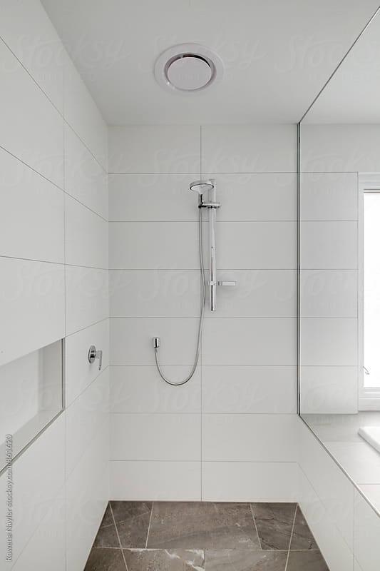 Modern empty batheroom by Rowena Naylor for Stocksy United