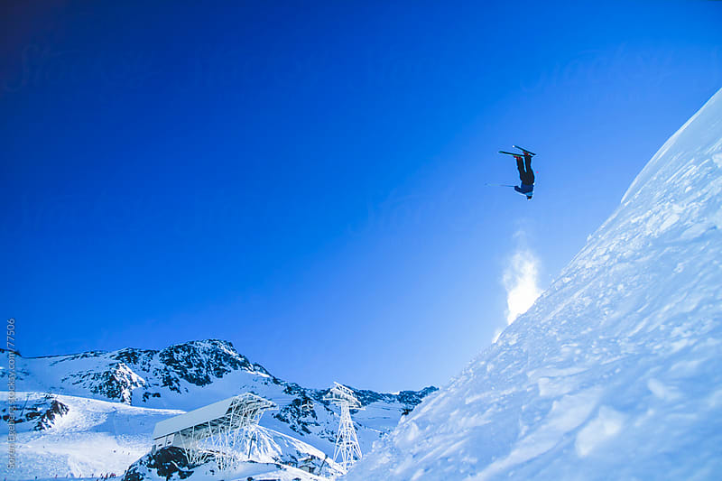 Winter snow skiing in the mountains by Søren Egeberg Photography for Stocksy United