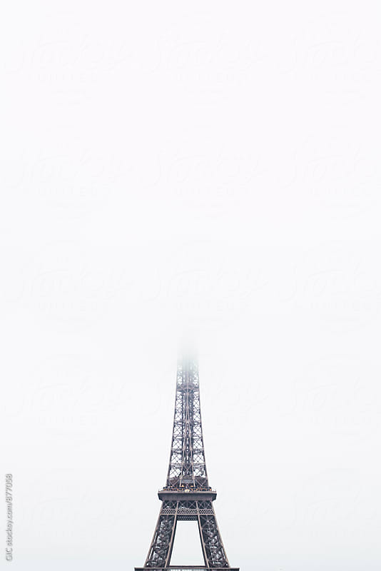 Eiffel Tower in the fog by GIC for Stocksy United