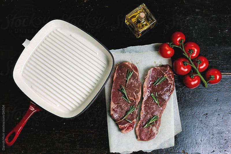 Steak dinner.  by Darren Muir for Stocksy United