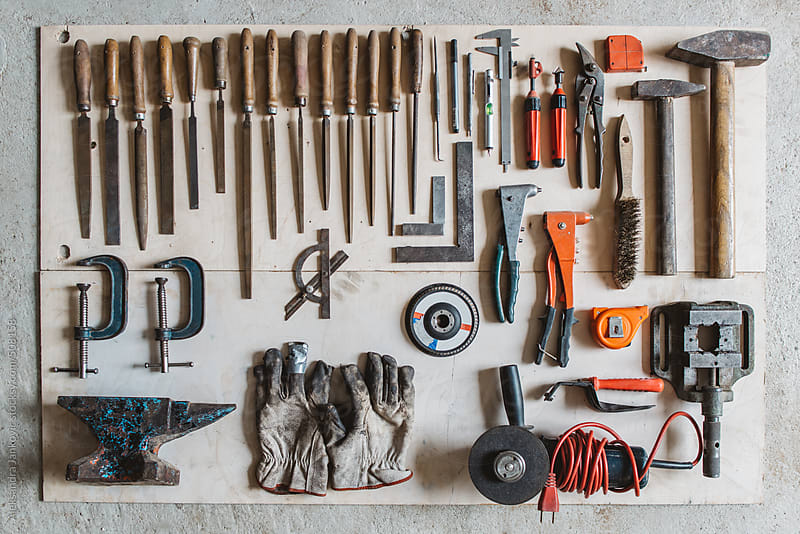 Various types of hand tools by Aleksandra Jankovic for Stocksy United