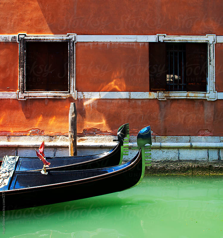 Gondola on the canals of Venice. Italy by Hugh Sitton for Stocksy United