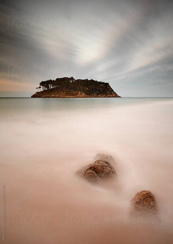 San Nicolas Island beach view from Lekeitio, in the Basque Country by Marilar Irastorza for Stocksy United