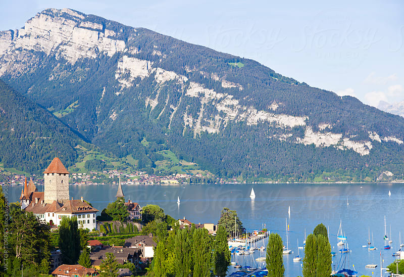 Spiez Village on Lake Thun by VICTOR TORRES for Stocksy United