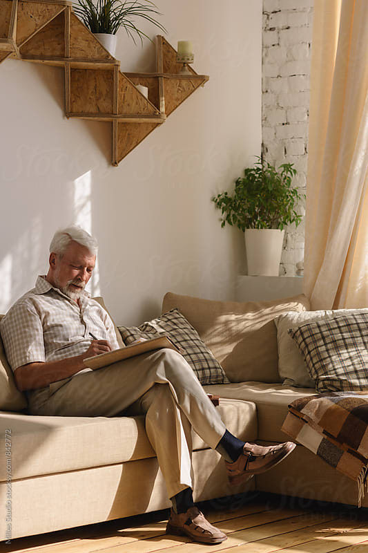 Old man at Home by Milles Studio for Stocksy United