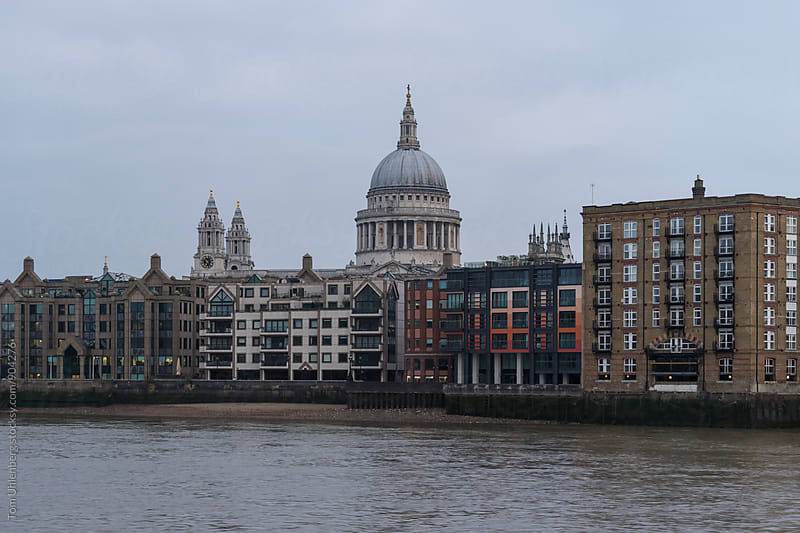 London, United Kingdom - Thames Waterfront and St Paul's Cathedral by Tom Uhlenberg for Stocksy United