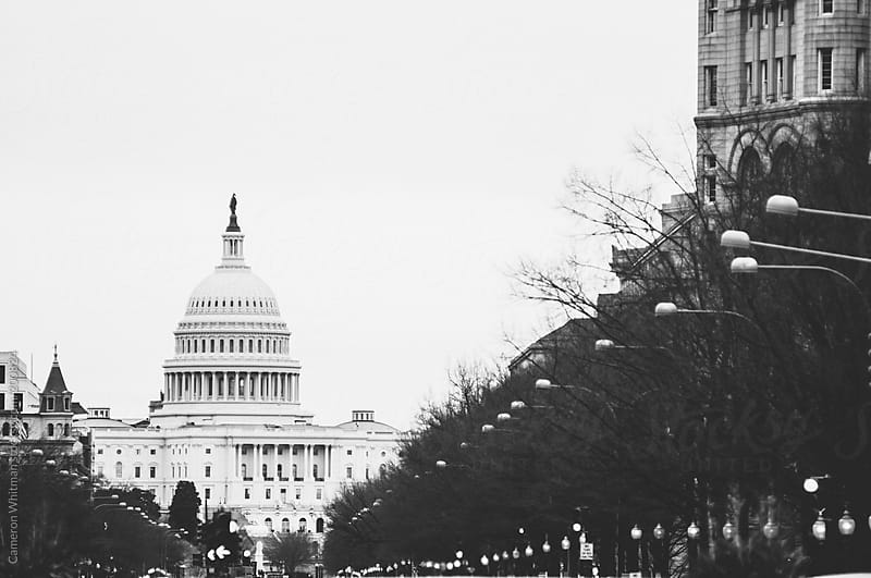 US Capitol from Pennsylvania Ave by Cameron Whitman for Stocksy United