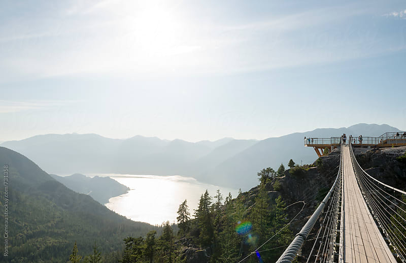 Spectacular Mountain Lookout by Ronnie Comeau for Stocksy United
