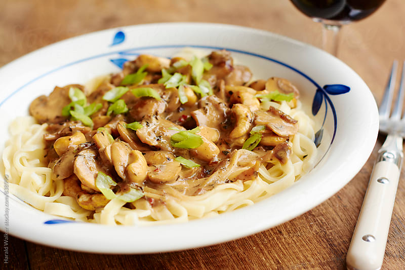 Creamy Mushroom Stroganoff by Harald Walker for Stocksy United
