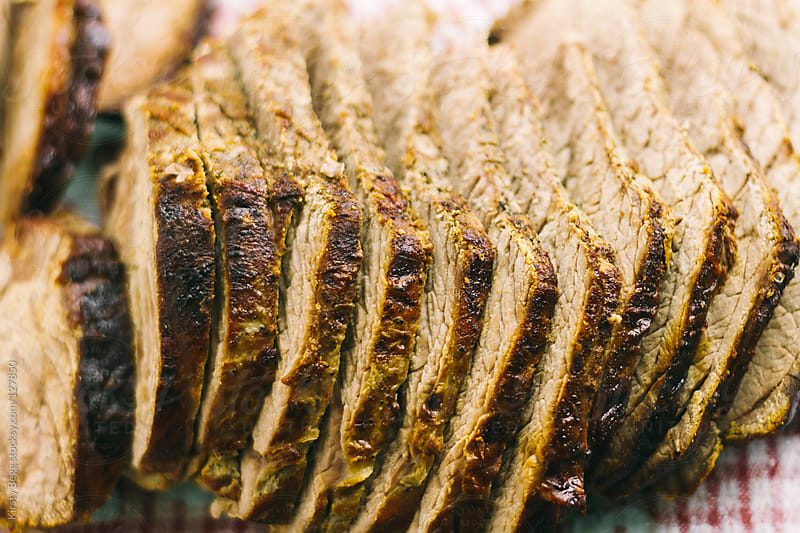 Sliced roast beef by Kirsty Begg for Stocksy United