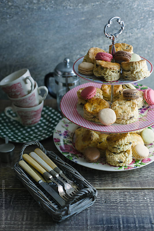Afternoon tea setting. by Darren Muir for Stocksy United