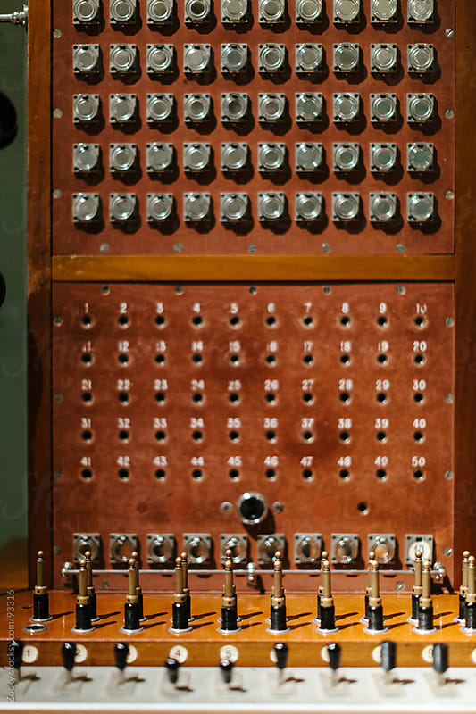 Old telephone switchboard by Zocky for Stocksy United