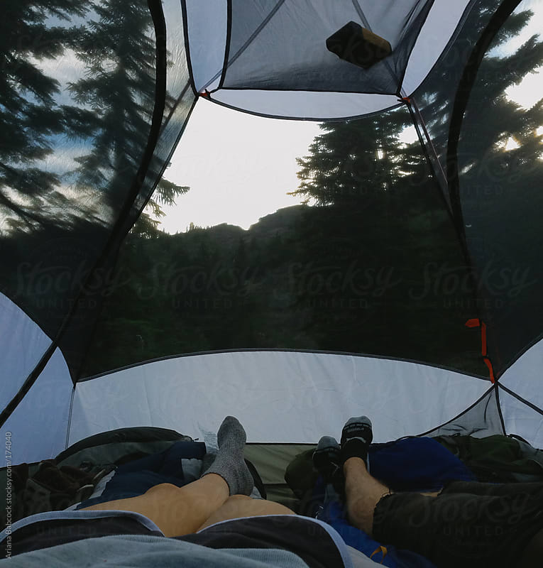 Tent view by Ariana Babcock for Stocksy United