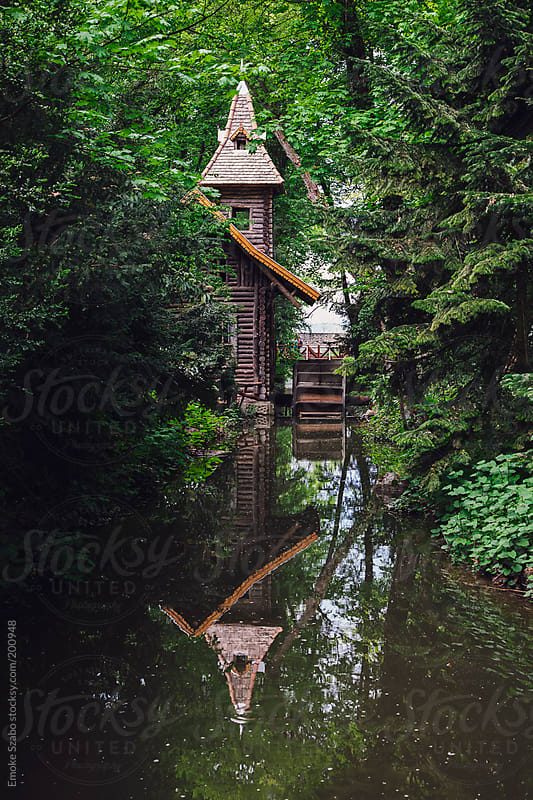 Old wooden water mill by Emoke Szabo for Stocksy United