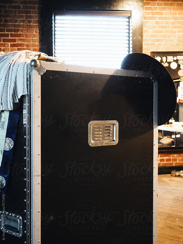 Industrial Trunk in Dressing Room by B. Harvey for Stocksy United