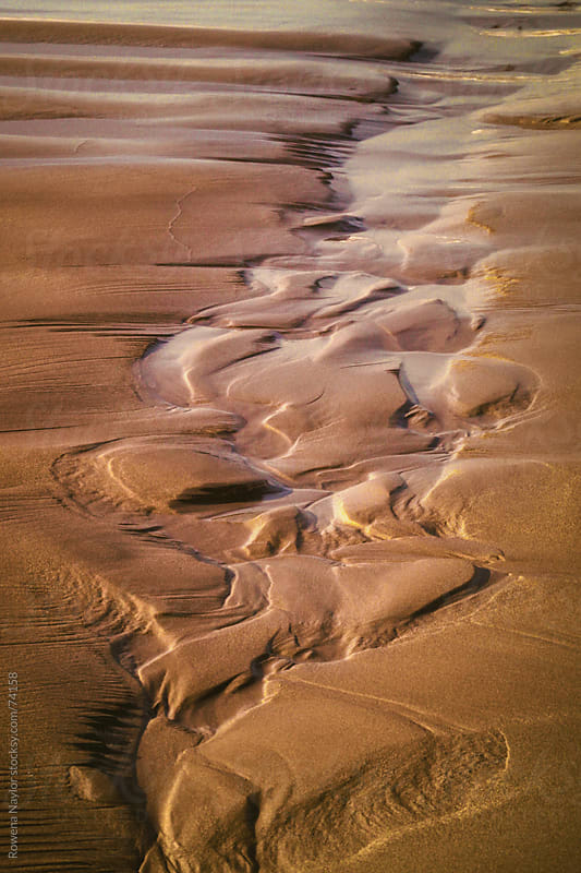 Sand Patterns on Beach by Rowena Naylor for Stocksy United