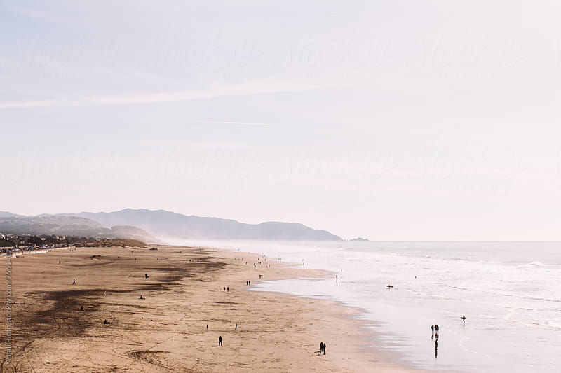 Pacific Coast on Overcast Day by Anjali Pinto for Stocksy United