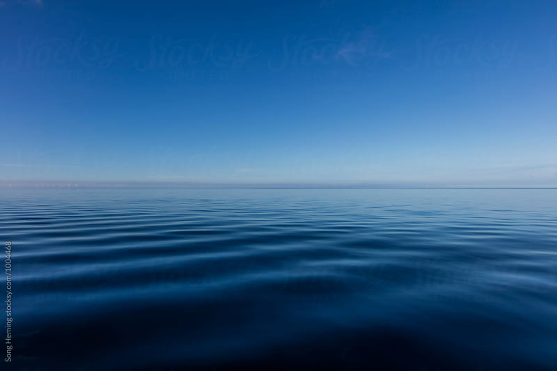 sea surface and blue sky in the morning by Song Heming for Stocksy United