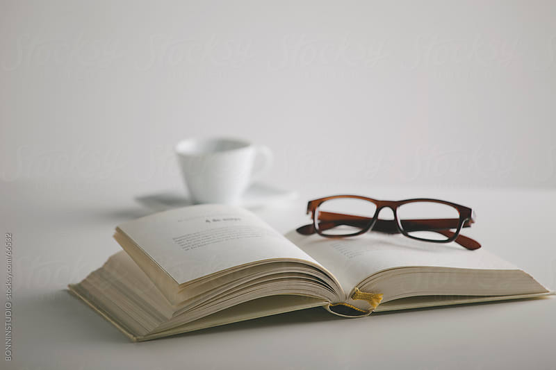 glasses on book - photo #23