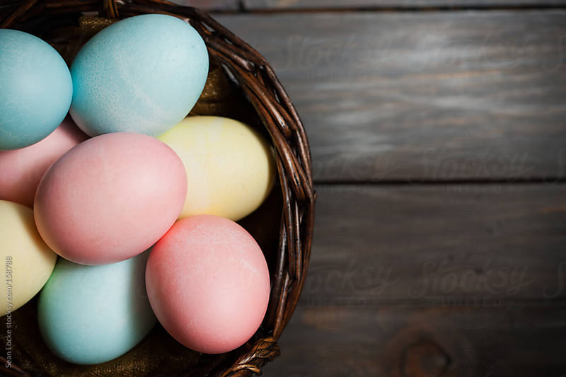 Easter: Pastel Colored Eggs From Vegetable Dyes by Sean Locke for Stocksy United